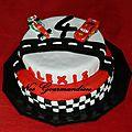 Gâteau pâte à sucre cars !