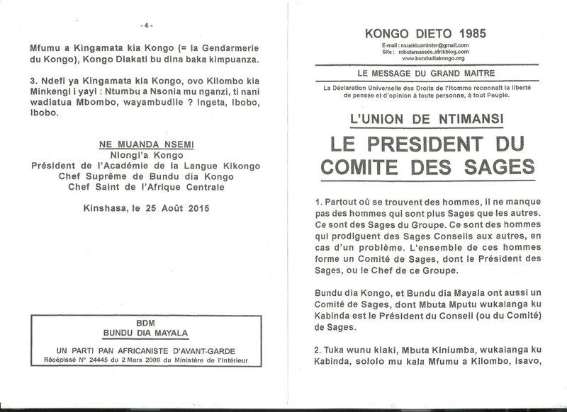 LE PRESIDENT DU COMITE DES SAGES a