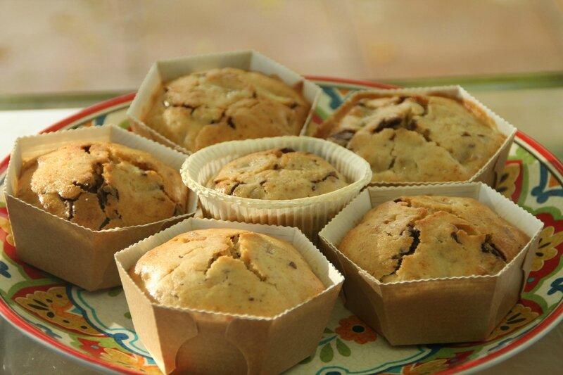 Prici - Muffins chocolat banane