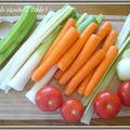 Noix de saint jacques aux petits légumes en brunoise au piment d'espelette