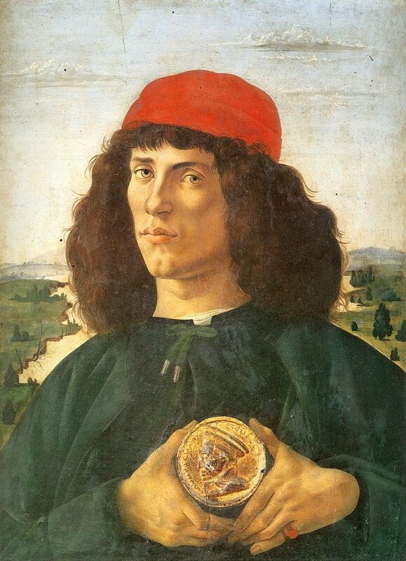 Boticelli man with a medal - Florence - Les Offices