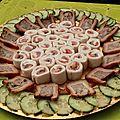 Roulés de saumon et ciboulette