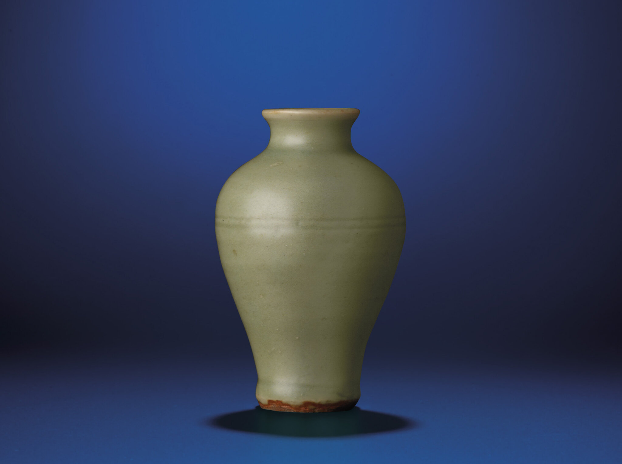 A fine small Longquan celadon meiping, Yuan dynasty (1279-1368)