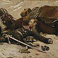Detaille, mobile tué et officier allemand mort près de son cheval (fragment panorama de champigny)