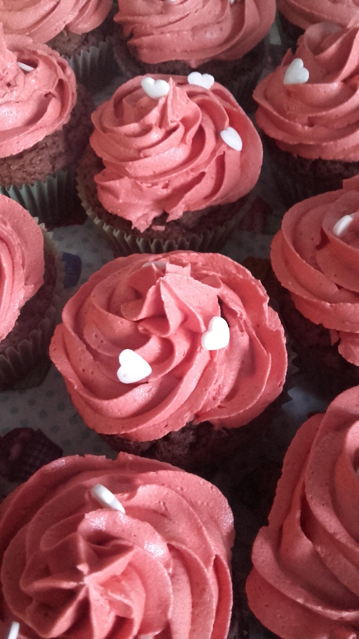 Cupcakes roses chocolat