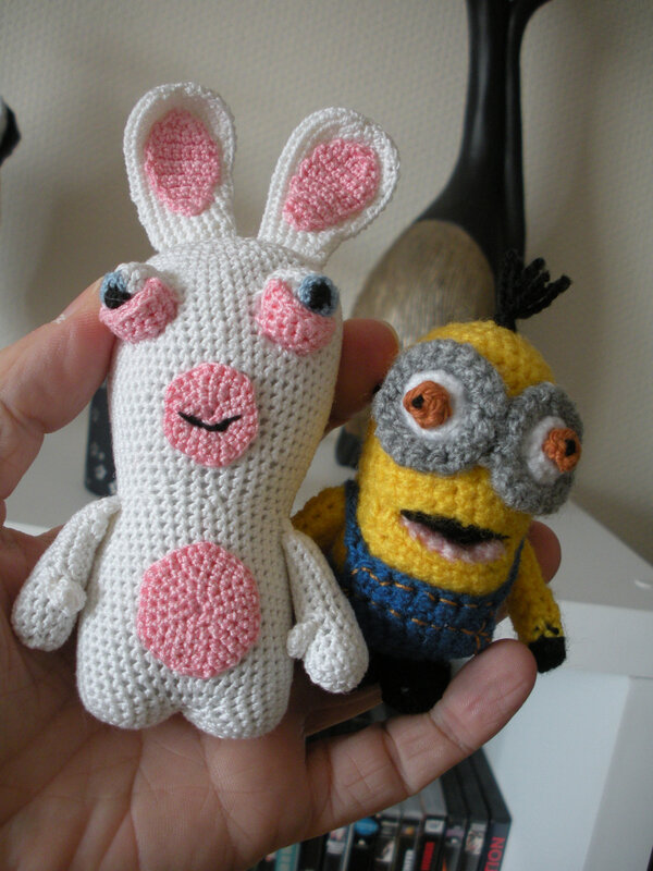 lapin crétin vs minion