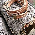 C/ bracelet cuir et métal