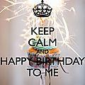 Joyeux anniversaire ... moi !