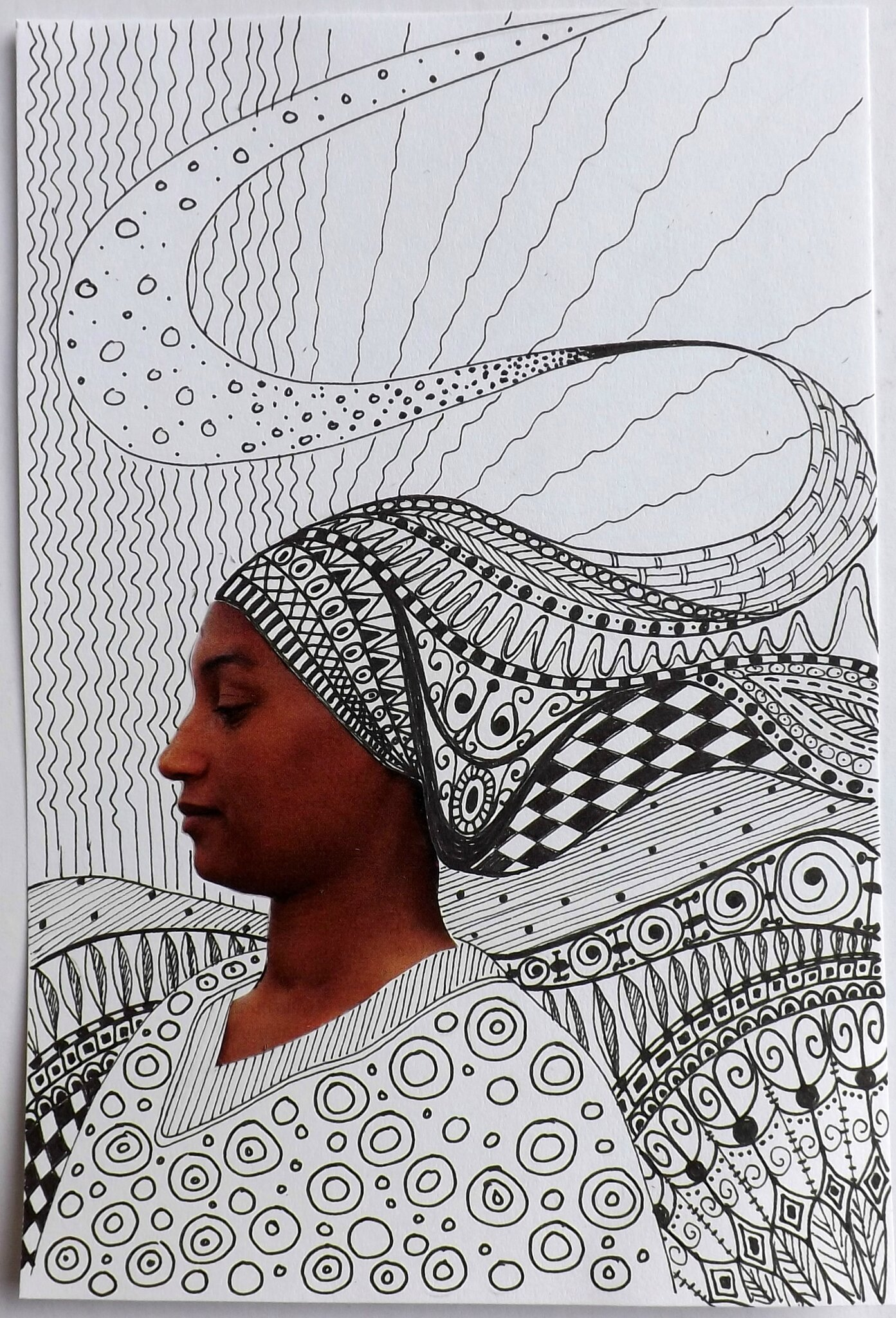 portrait zentangle