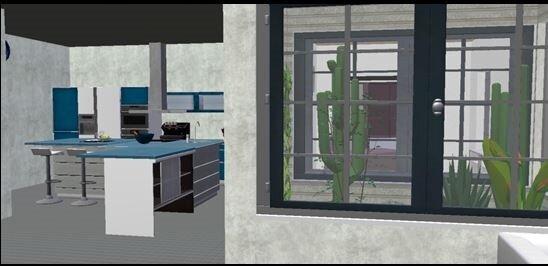 VEN-Vue cuisine et patio