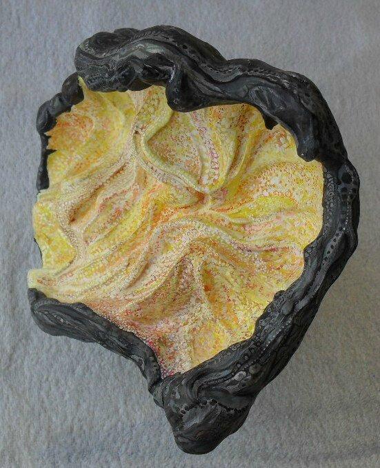 Hervé THAREL SCHMIMBLOCK'S prometheus 2012 - acrylique sur argile - 20,5cmx27cm (4)