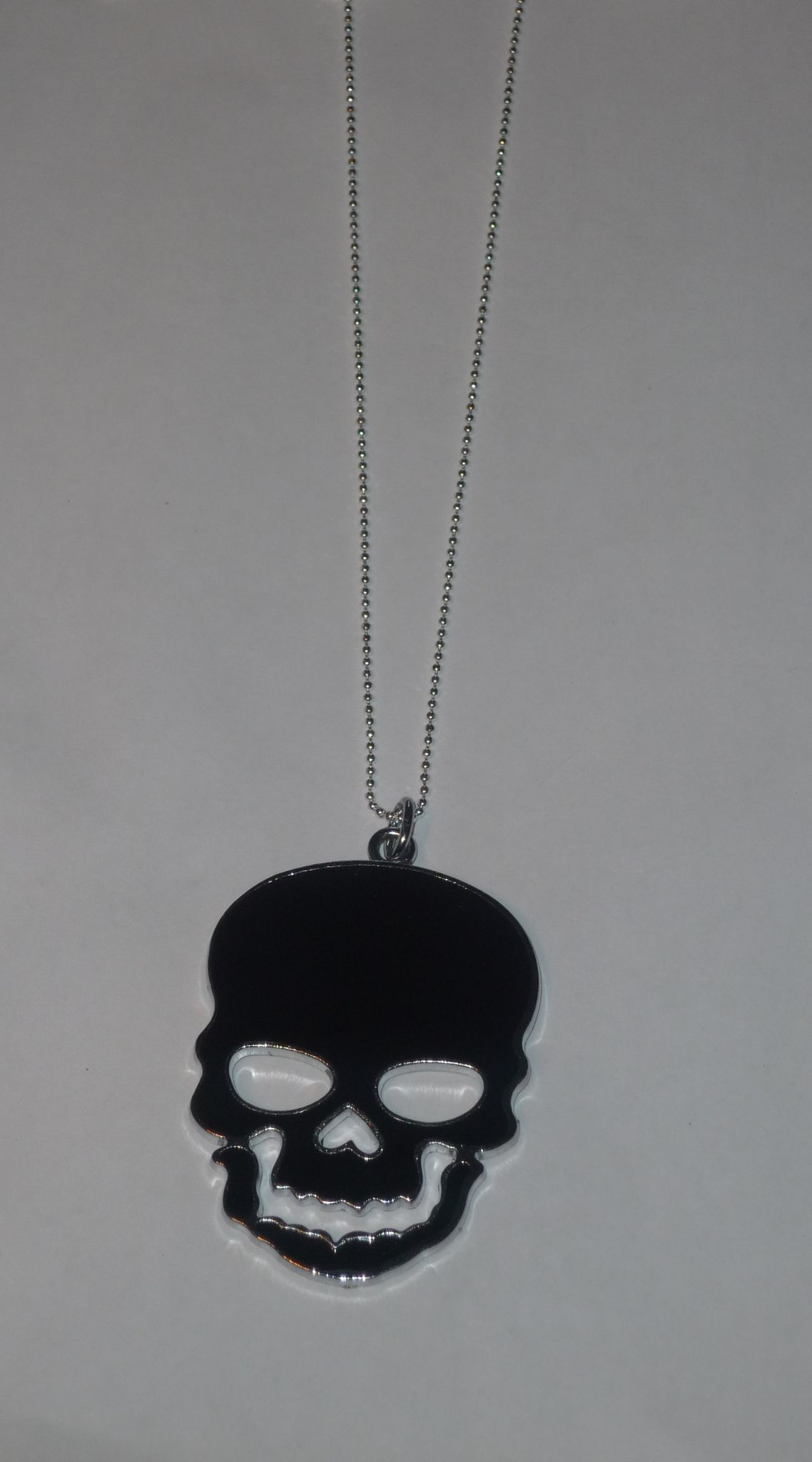 Sautoir Skull - Tête de mort noir