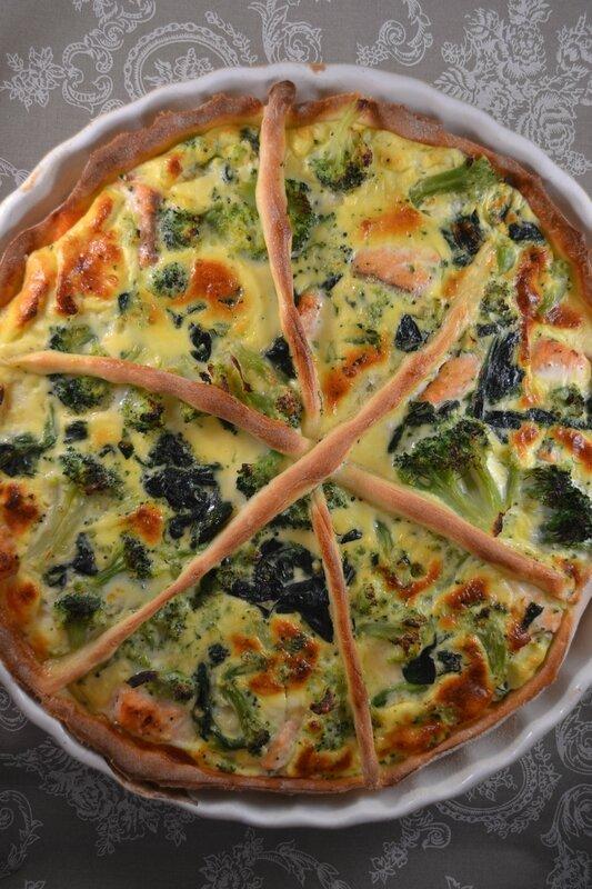 Quiche aux deux saumons et aux deux légumes pâte au fromage blanc (3)