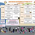 Programme des mercredis de septembre-octobre 2018