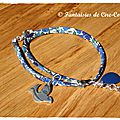 Bracelet Colombe argent pleine double tour