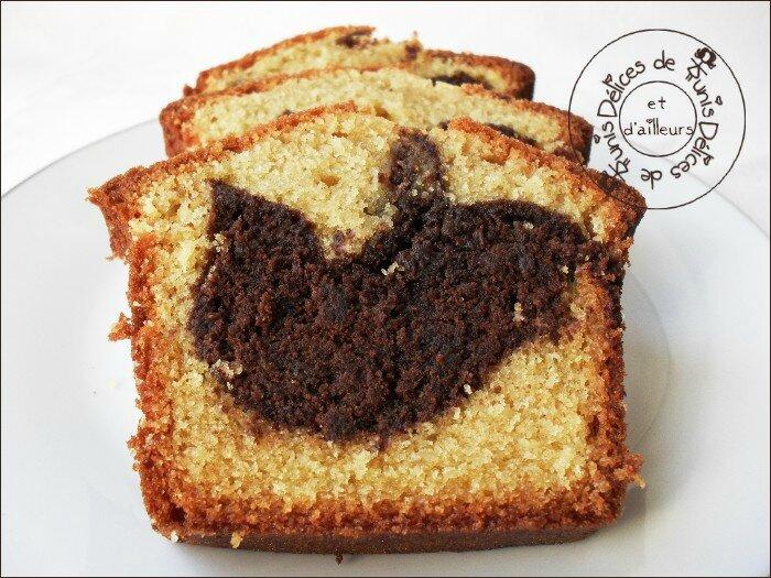 cake marbré chocolat 3