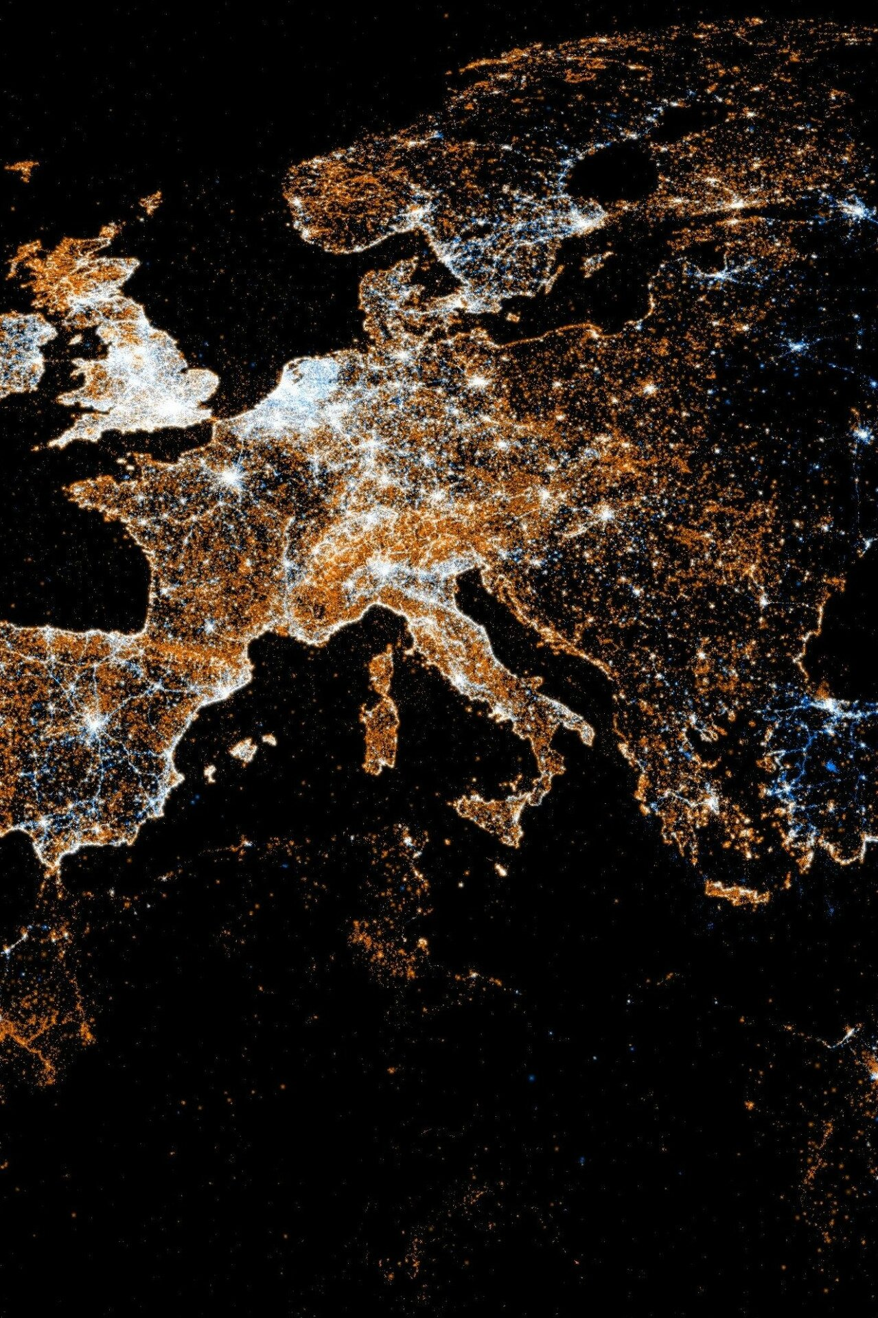 europe pollution lumineuse