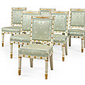 Six empire chairs from napoleon's palace to be offered at christie's south kensington