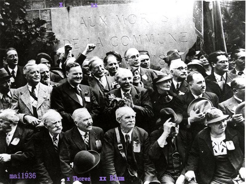 mur des fédérés 1936 Blum et Thorez