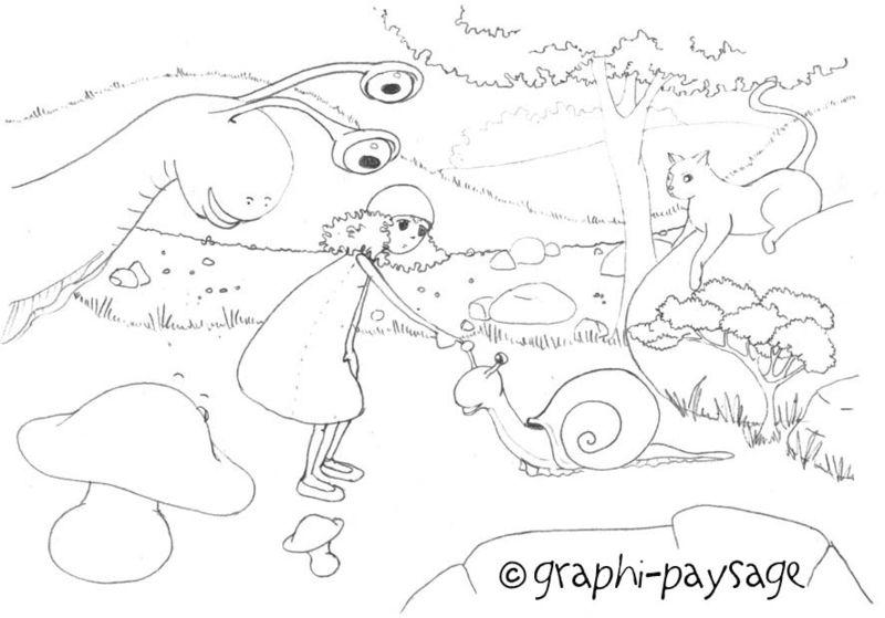 esquisse escargot