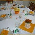 Déco table orange