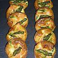 Frittatas aux asperges et saumon fumé