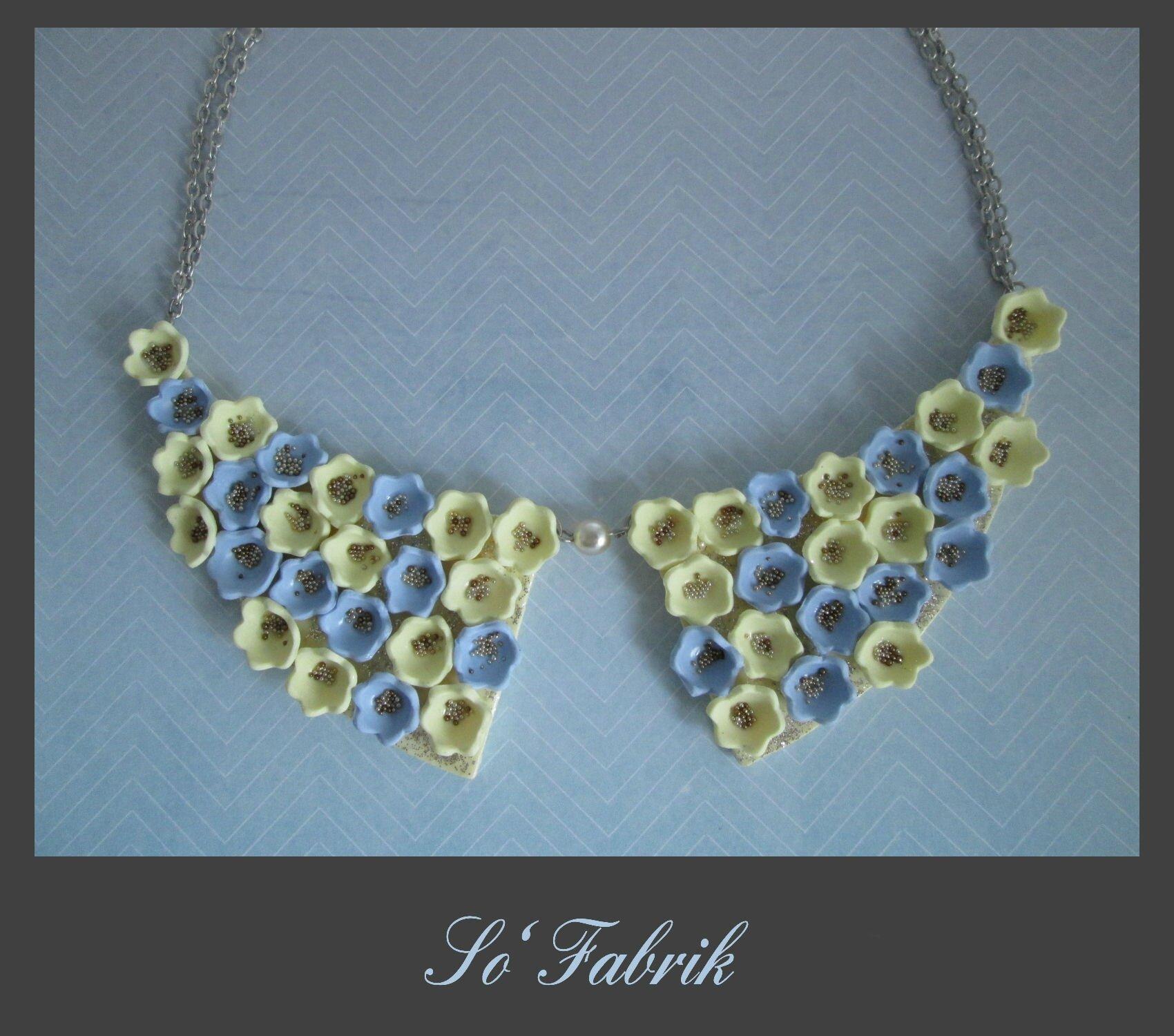 TOUTENFLEURS le collier jaune bleu 2