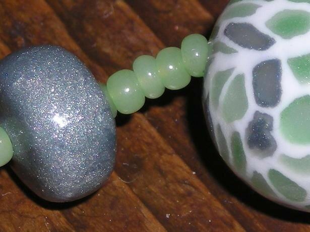 Bracelet mosaïque vert - détail
