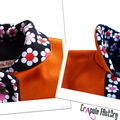 ManteAu enfant Orange et flowers