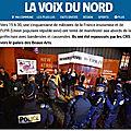 Le journal « la voix du nord » cite l'upr et publie une photo pour la venue de macron avec un « comité d'accueil upr »
