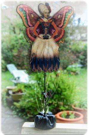 papillon sur tige