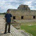 Uxmal - Nunnery Quadrangle (Pyramid of Magician background)