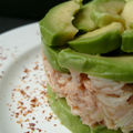 Millefeuille avocat crabe