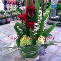 Muguet et Rose rouge