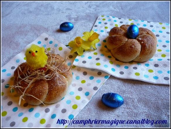Petits nids de Pâques briochés