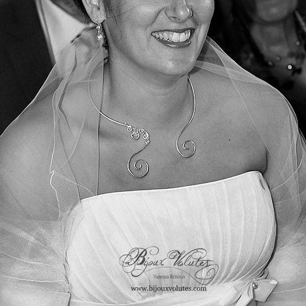 collier de mariée fil alu