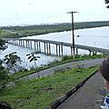 Pont reliant Iguape à Ilha Comprida