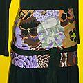 ref 3 : grandes fleurs violettes/lilas/noires