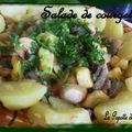 Salade de courgettes tiède