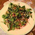 Salade monochrome au cresson et truite fumée