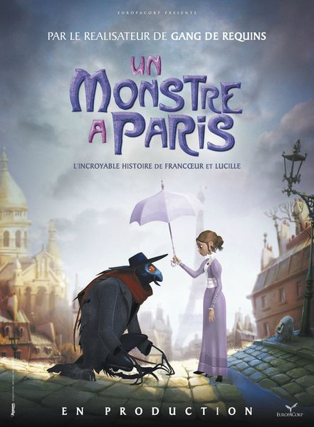 Dessin animé un monstre a paris