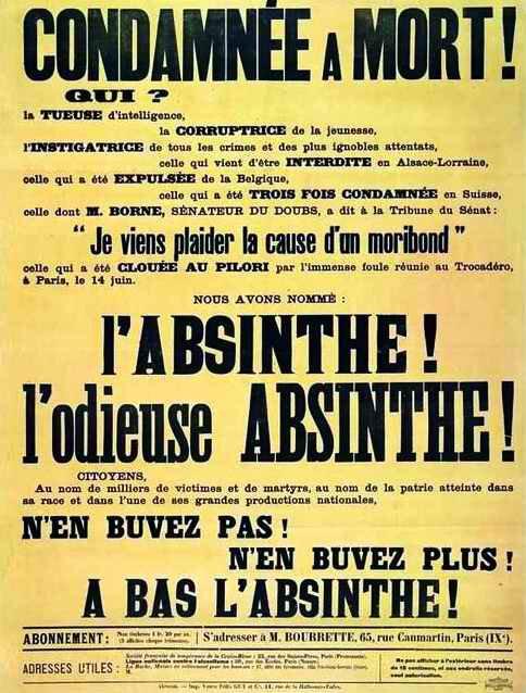 Affiche jaune absinthe