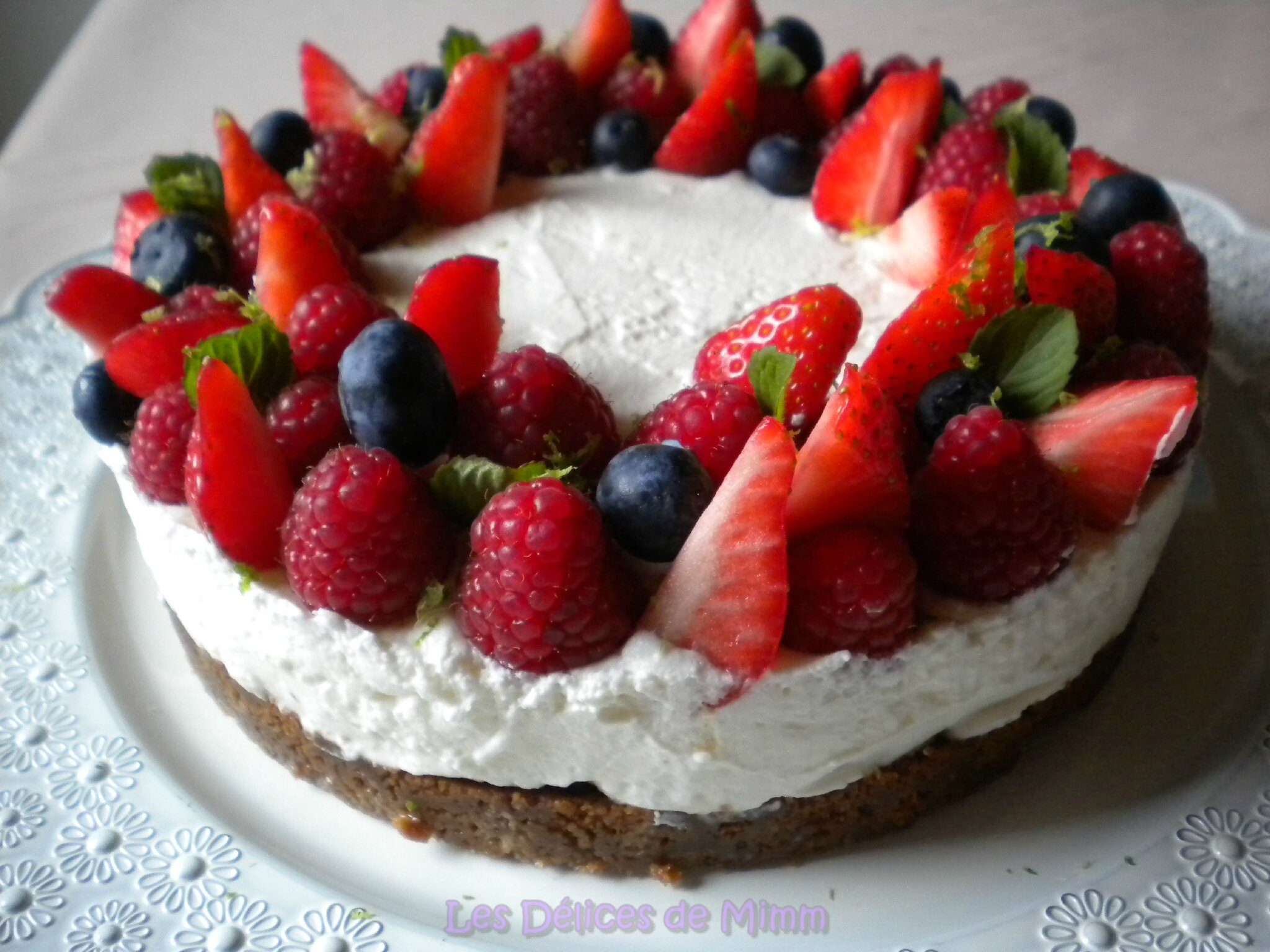 Tarte aux fruits rouges limoncello et sp culoos sans cuisson les d lices de mimm - Chantilly maison sans syphon ...