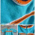 ★ petite roble bleu et orange t. 6mois