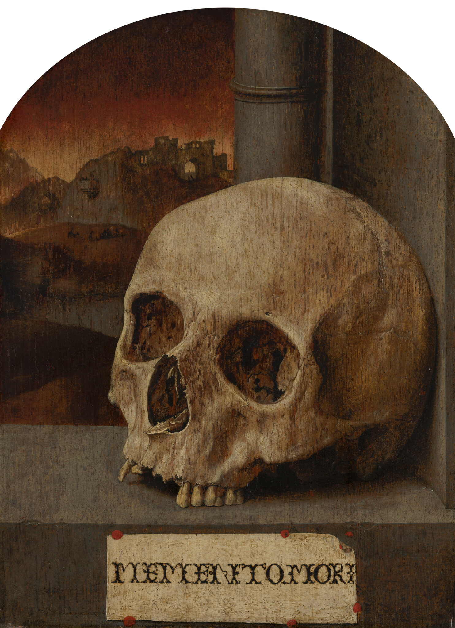 Anonymous (Southern Netherlands), Vanitas Still Life, c. 1530, oil on panel, 34.2 x 26 cm. © 2019 Mauritshuis