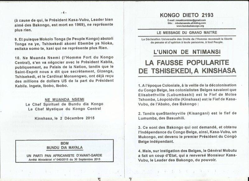 LA FAUSSE POPULARITE DE TSHISEKEDI A KINSHASA a