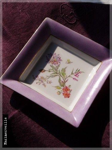 Vide poche aux fleurs