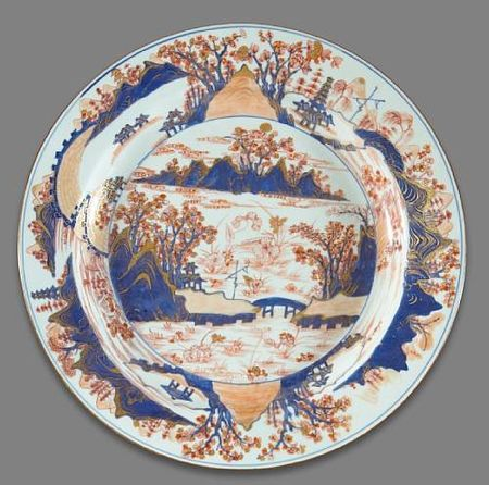 A__Chinese_Imari__export_porcelain_charger_with_landscape_decoration