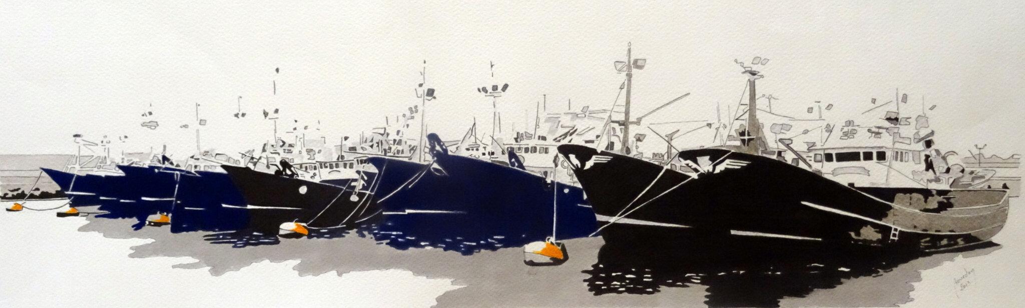 32 Fontarabie, le port de pêche
