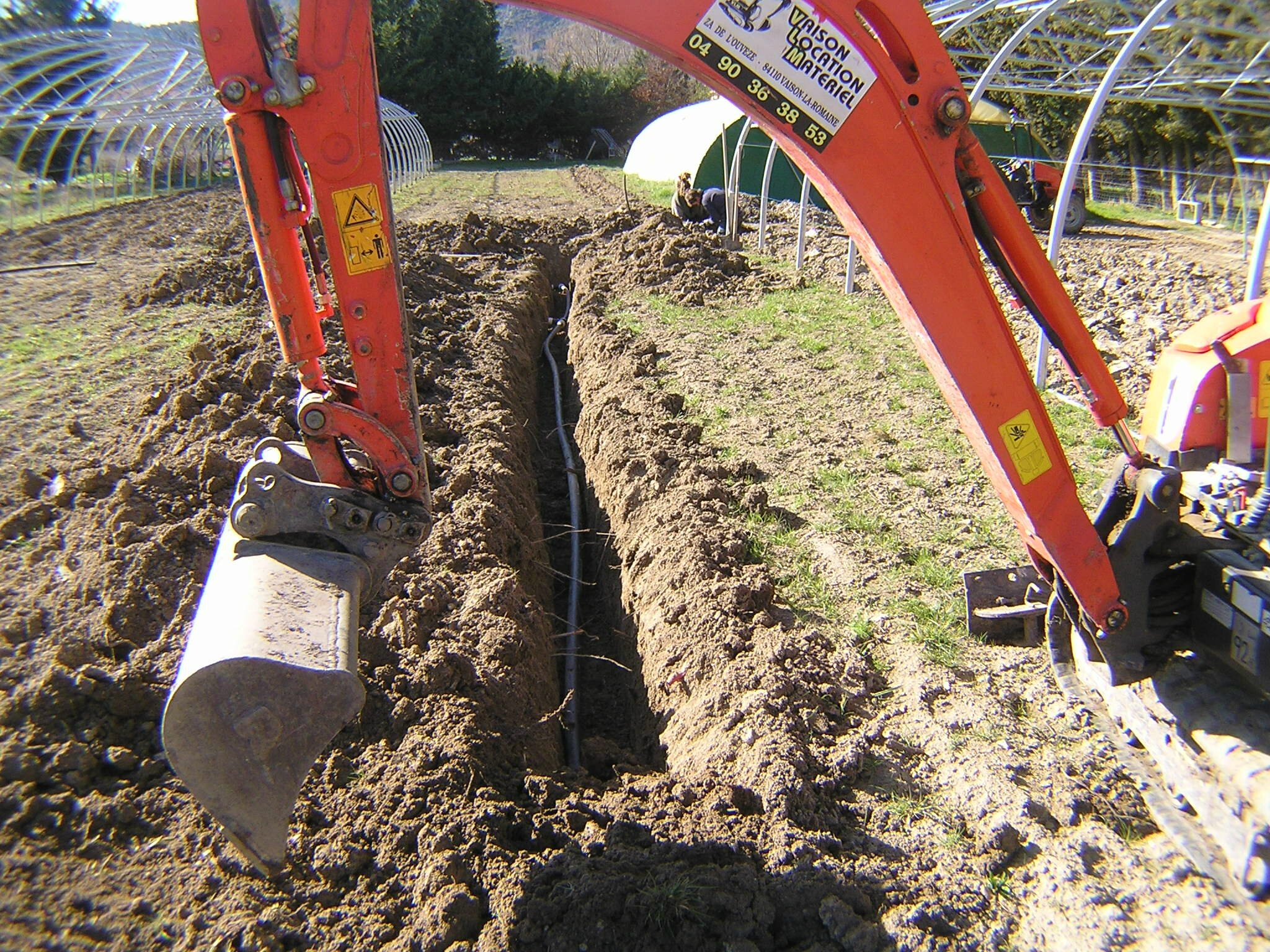 Installation du réseau d'irrigation